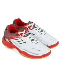 Sepatu badminton (Spotec bravia) white/red