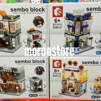 Sembo Block Lego Compatible SD 6540 HSBC Ceramic Cookie Cloth Shop LED