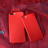 Apple Iphone 7 Red Casing dan iPhone 7 Plus Case Merah Spesial Edition