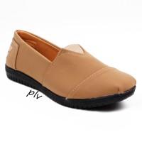 Jual Sepatu Flat Shoes Flatshoes Murah ala Toms / Wakai - Camel Murah