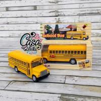 Diecast Kinsmart Kinsfun KS5107W - Mobil School Bus Sekolah Pullback