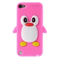 TV408 - PENGUIN SILICONE CASE IPOD TOUCH 5 / 6 PINK
