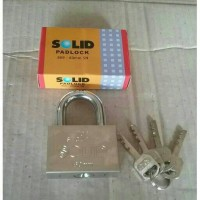 Gembok 60mm solid, gembok pagar/motor/pintu, kunci solid