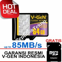 Micro SD VGEN 64GB Class 10 V-Gen microSD XC 64 GB Turbo