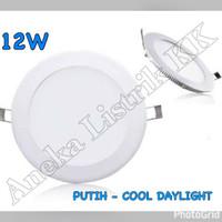 LAMPU DOWNLIGHT PANEL LED 12w PUTIH BULAT 12watt TIPIS PLAFON RUMAH