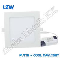 LAMPU DOWNLIGHT PANEL LED 12w PUTIH KOTAK 12watt TIPIS PLAFON RUMAH