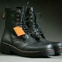 harga Sepatu Kulit Boots Original Bikers Motor Touring Bahan Kulit Asli Tokopedia.com