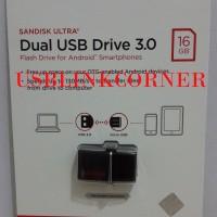 Jual SANDISK FLASHDISK OTG 16GB USB 3 / FLASH DISK 16GB OTG - GARANSI RESMI Murah