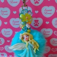 Jual Bag Charm Clay Furball Elsa Frozen / Gantungan Tas Boneka Pompom Murah