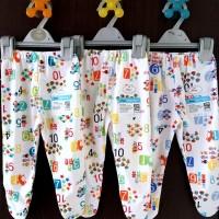 MIYO 3pcs Celana Panjang Tutup Kaki Motif 0-3 Bulan