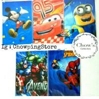 Table Cover/ Taplak Meja Karakter Cars Mickey Minion Avenger Spiderman