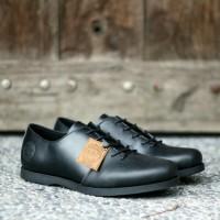 sepatu kulit derby pria model casual santai bahan kulit asli original
