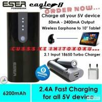 Jual Powerbank Eser Eagle8 6200mAh + adaptor 1A for earphone,HP,tablet Murah