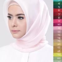 Jual Hijab Organza Silk / Square Organza Segi empat polos segi4 segiempat Murah