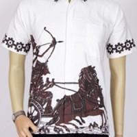 harga Jual Baju Batik Modern Pekalongan | Batik Pria Kantor |warna Coklat Tokopedia.com