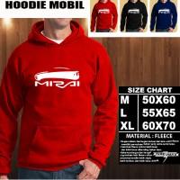 Sweater/Hoodie Mobil TOYOTA MIRAI SILUET TS/Hoodie Otomotif/Jaket