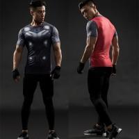 Manset Baselayer Thor Dark World UA Under Armour Olahraga Gym Sport