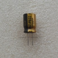 Capacitor Nichicon FW PET Series 220uF25V Electrolytic Gold