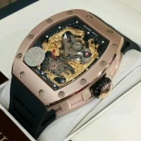 RICHARD MILLE RM 057-01 Tourbillon GOLD Dragon & Phoenix ROSEGOLD