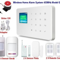 Wireless GSM Alarm System Untuk Rumah Ruko Apartemen Model G18 SET02