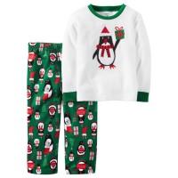 Baju Tidur Anak Laki-laki/piyama Anak Carter Penguin Gift (7-14t)