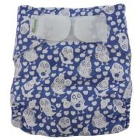 Minoo Cloth Diaper - Owl Purple