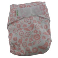 Minoo Cloth Diaper - Pink Bunga