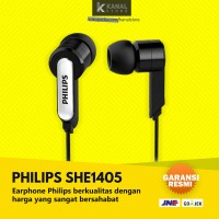 Philips SHE1405 Black Original Earphone with Mic | Bass Headphone