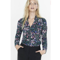 express portofino shirt floral green