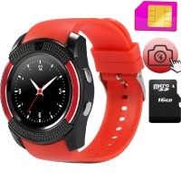 Jam Tangan Smartwatch V8 Bluetooth Sim Card Memory Whatsapp