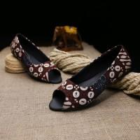 harga Sepatu Flat Batik Tulis Kulit Asli For Women Tokopedia.com