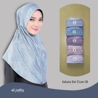 Jual ELZATTA Asli Hijab Bergo Sahara Dot Flow SB Kerudung Jilbab Instan Murah