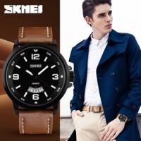 harga Skmei Casual Men Leather Strap Watch 9115cl Jam Tangan Pria Anti Air Tokopedia.com