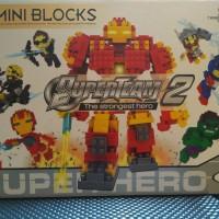 Mainan Anak Lego Iron Man - Mini Blocks Super Team Hero Promo 550