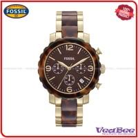 Jam Wanita Fossil Original JR1382 Natalie Chronograph Two-Tone Watch