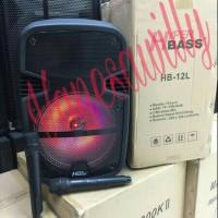 "Speaker Portable Meeting Wireles HYPER BASS HB-12L (12""inchi)"