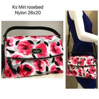 Ready 1pc Kate Spade Miri Rosebed Nylon 26x20cm