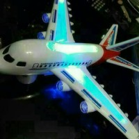 pesawat mainan /Air bus / mainan anak,full music ,lampu dan bisa jalan
