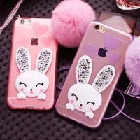 Jual Rabbit Diamond Silicone soft case TPU FOR iPHONE 6/6+ I 7/7+SAMSUNG S7 Murah