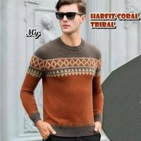 Jual Harfiz Coral Tribal Pakaian Baju Sweater Rajut Korea Pria Murah