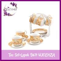 Jual Vicenza Tea Set Cangkir+Lepek 13 Pcs B671 Murah