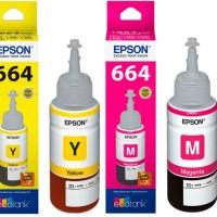 Epson 664 BK, C, M, Y Original Ink - For L120,L210 (Kami Dealer Resmi)