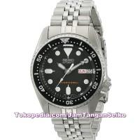 Jam Tangan Pria Seiko SKX013K2 Automatic Divers 200M Silver Stainless