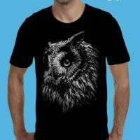grosir kaos t shirt tshirt3d pria burung hantu owl distro murah