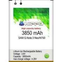 Baterai Samsung Galaxy Note 3 Neo N750 Batre Hippo 3850mAh Double IC