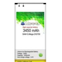 Jual Baterai Samsung Galaxy Mega 2 G750 Batre Hippo 3450mAh Double IC Murah