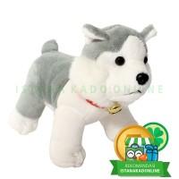 "Boneka Anjing Sitting Dog Assorted 6"" - Husky Gray"