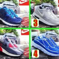 harga Sepatu Running/olahraga/wanita/senam/nike Airmax High Silver Merah Tokopedia.com