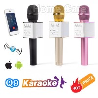 Jual Q9 Wireless Bluetooth Karaoke Player Microphone Speaker KTV Efek USB P Murah
