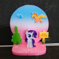Jual Background hiasan kue ulang tahun little pony small Murah